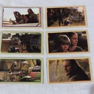 Star Wars Episode 1 Merlin Stickers  Collectible set 9