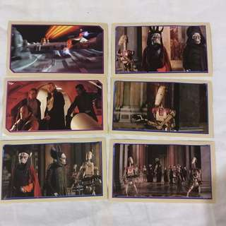 Star Wars Episode 1 Merlin Stickers  Collectible set 10