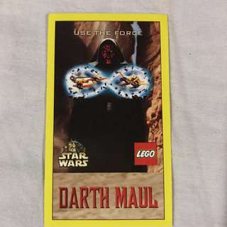 Star Wars Episode 1 Merlin Stickers  Collectible Darth Maul Lego