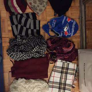 Bulk winter accessories (toques and scarves)