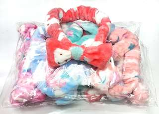 12pcs Ribbon Plush Turbans