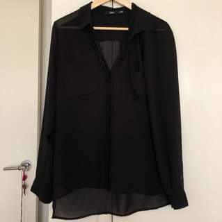 Black Shear button up