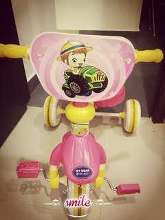 Children Tricycle Bike Riding