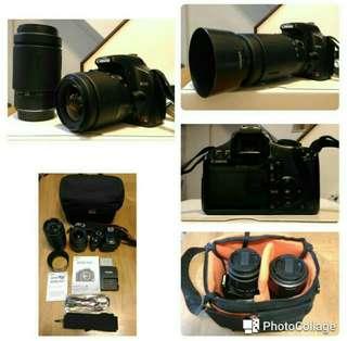Canon 450D + lens 28-80 + 70-300