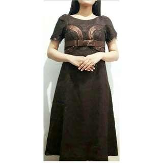 Dress broklat brown