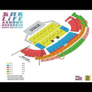 Mayday 2nd June 2018 (4 Cat 5 tickets)