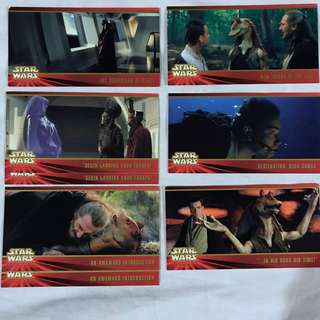 Star Wars Episode 1 The Phantom Menace  Widevision cards by TOPPS 1999 set 1