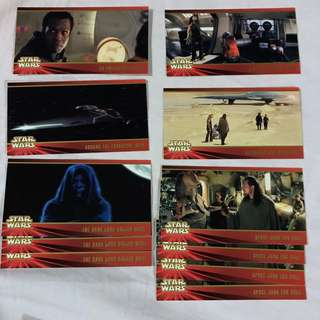 Star Wars Episode 1 The Phantom Menace  Widevision cards by TOPPS 1999 set 2