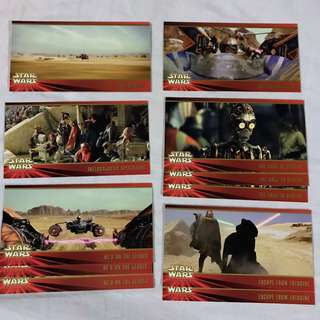 Star Wars Episode 1 The Phantom Menace  Widevision cards by TOPPS 1999 set 4