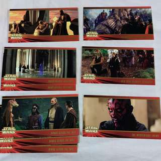 Star Wars Episode 1 The Phantom Menace  Widevision cards by TOPPS 1999 set 5