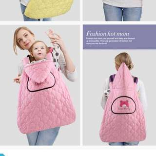 Waterproof and wind proof baby carrier cover - Pink