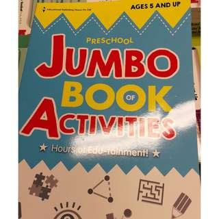 新加坡代購 Preschool Jumbo Book of Activities