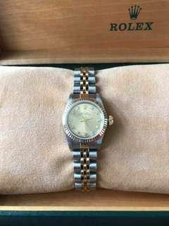 Rolex Authentic 2 Tone Jubilee with Diamonds Ladies Watch