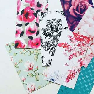 FREE Recycled pattern cards for scrapbooking