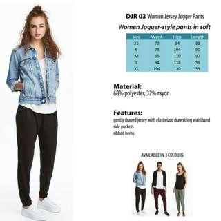 H&M Women Jersey Jogger Pants