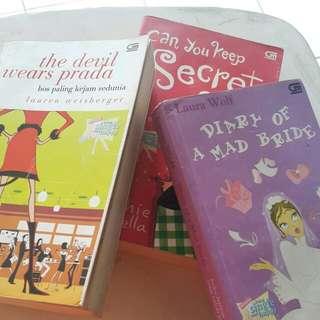 Novel chicklits best seller (3buku)
