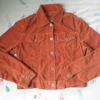 Orange Brown Ladies Jacket with Freebie ( 2 Korean Shower Gel Sachet )