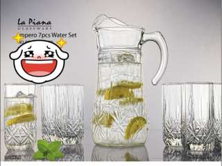 La Piana Glassware Impero 7pcs Water Set