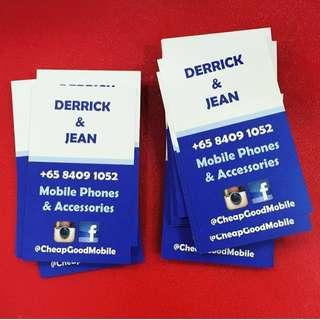 Namecard customize design print