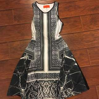 """Clover canyon """"etched marble"""" A-line dress size Xs"""