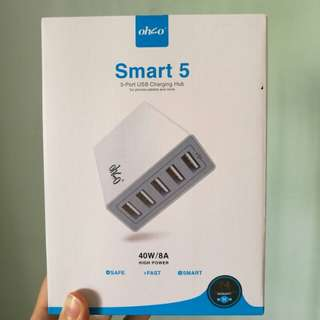 OHSO Smart 5 USB Charging HUB / 5-port USB Charger / 40W 8A / Fast Charging