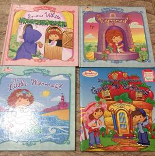 Strawberry shortcake books lot