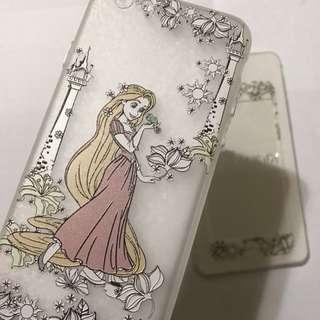 ❤️長髮公主 迪士尼 卡通公仔 手機保護玻璃貼 + 電話套 Disney