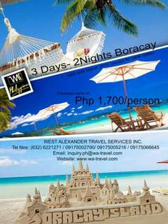 Boracay Package for only Php 1700 each