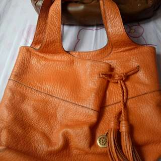 Super price drop!!! Authentic anne klein orange bag😍