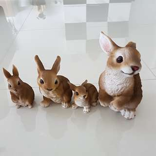 Rabbit bunny collectibles decor statues