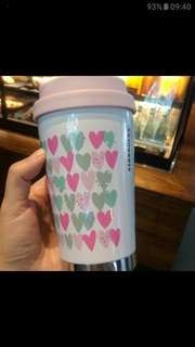 Tumbler starbucks pink winter