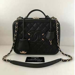 Authentic Chanel Vanity Case Medium