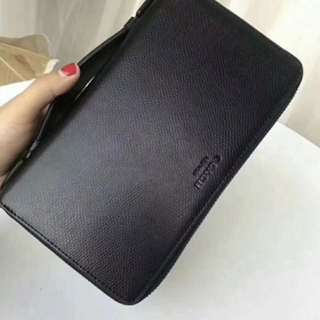 Authentic Coach men long wallet purse pouch coin bag