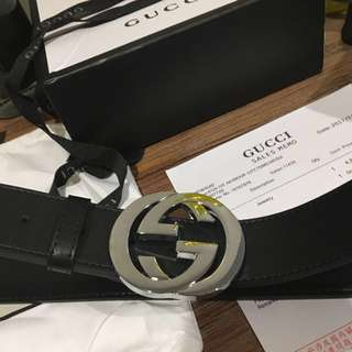 GUCCI Belt (belt + pouch + receipt + box + ribbon & more!!)