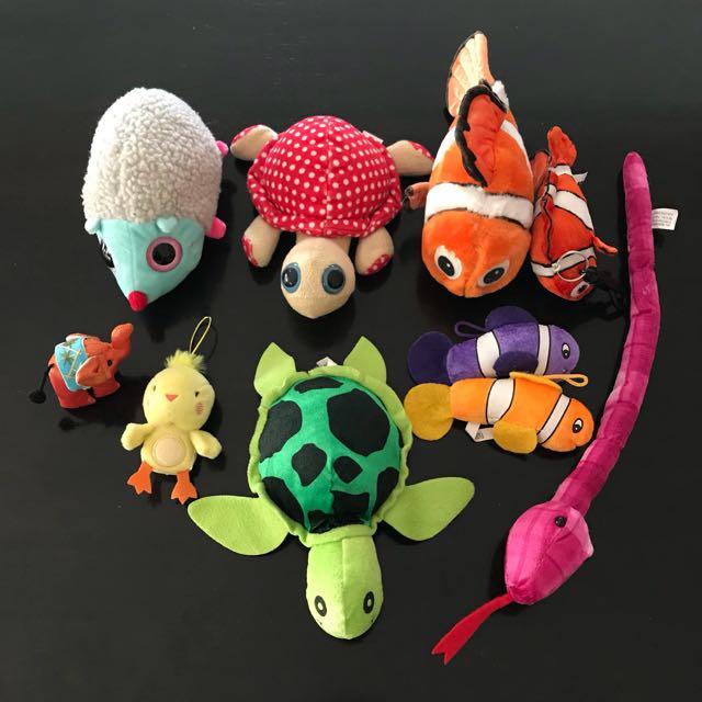 10x Bulk plush stuffed toy animals