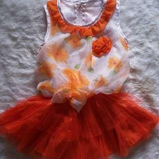 Gaun pesta orange baby