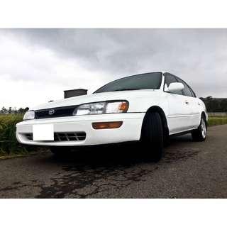 1994 COROLLA 原廠手排 雙安 定速 ABS 保證里程9萬 車況超優 歡迎賞車
