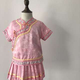 Pink 2 pieces cheong sam