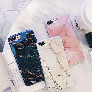 訂購雲石iPhone藍光電話殼 大理石 白色雲石 iPhone8
