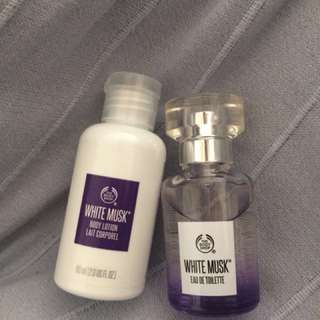 [BRAND NEW] Body Shop White Musk EDT and lotion set