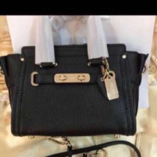 Authentic Coach mini Swagger handbag crossbody bag