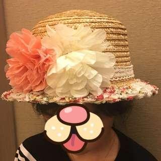 編織花草帽(隨機送一條防風繩)