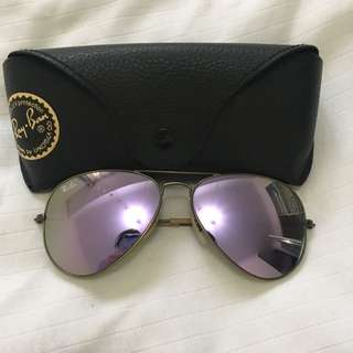 Ray Ban Purple Aviators