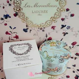 💥LAST💥👍FRESH ARRIVAL OFTEN👍💖SEALED AUTHENTIC BRAND NEW💖 LIMITED EDITION Les Merveilleuses Ladurée (Laduree) Face ROSE 2-tones Blush cheek Petals --3 colours in blue container! (LATEST Manufactured Date=Active Ingredient) No Pet No Smoker Clean Hse