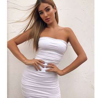 Tigermist white dress