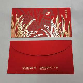 Brand New 2017 Red Packets Or Ang pows from Carlton Hotel Singapore (last 1 pack)