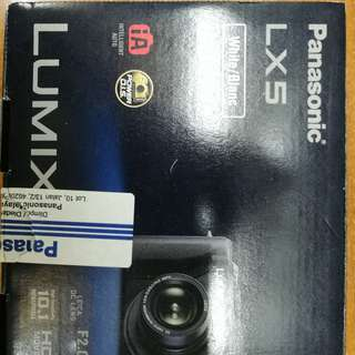 Panasonic Lumix LX5 White Digital Camera