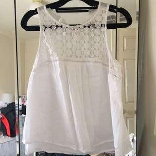 Forever 21 white linen top