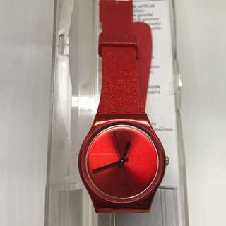 Authentic Swatch Red Watch