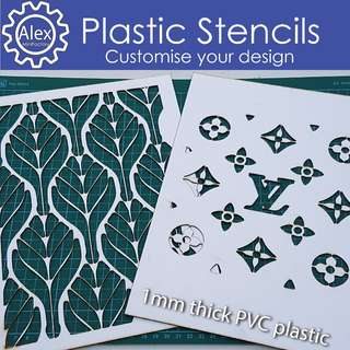 Custom Plastic Stencils . Customised designs for Logo & Text Spray painting or wall decor.